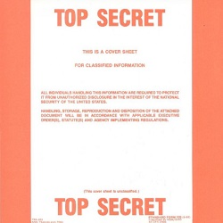 top secret cover sheet